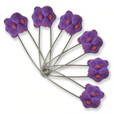 Cats & Bears & Fruits Diaper Pins - 6 Pack