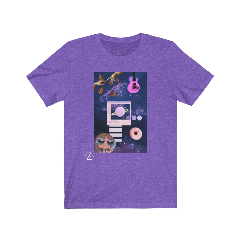 Purple Galaxy Graphic Tee
