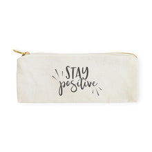 Load image into Gallery viewer, [Free Shipping] Cotton Canvas Pencil Case - Stay Positive