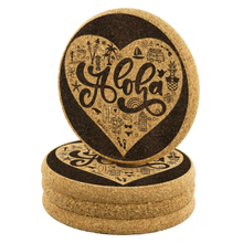 Load image into Gallery viewer, [Free Shipping] Cork Coasters 4-Pack - Aloha Heart