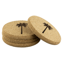 Load image into Gallery viewer, [Free Shipping] 4 piece Cork Coasters  - Palm Tree