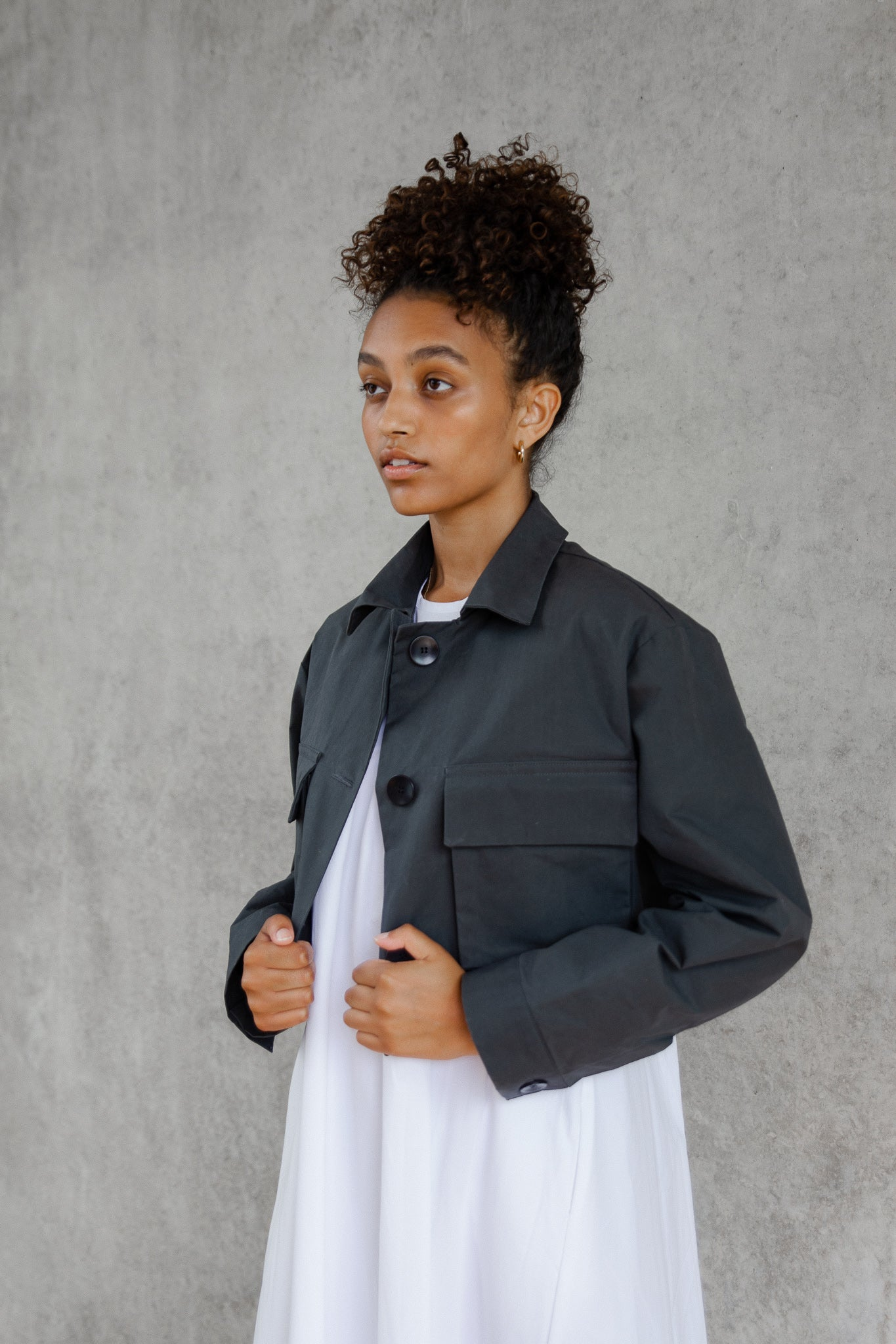 The Cropped Commuter Jacket #1