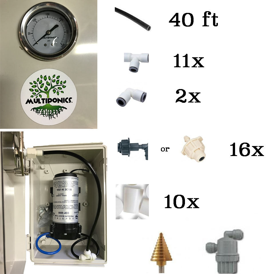 DIY High Pressure Aeroponics Kit 8800