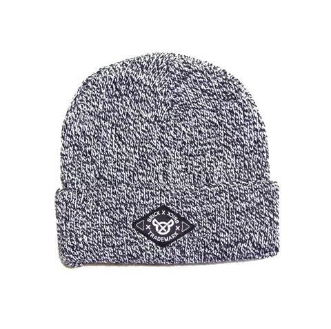 Peppered Diamond Label Knit Cap