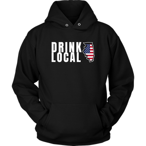 CRAFT BEER LOVER FUNNY HOODIE, DRINK LOCAL ILLINOIS