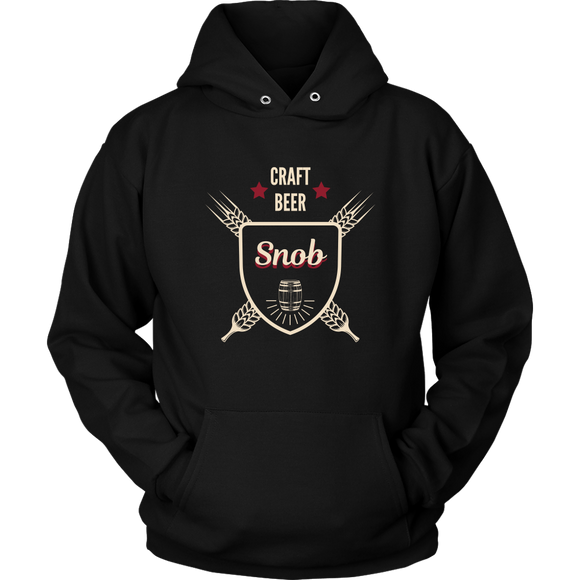 CRAFT BEER LOVER FUNNY HOODIE, CRAFT BEER SNOB