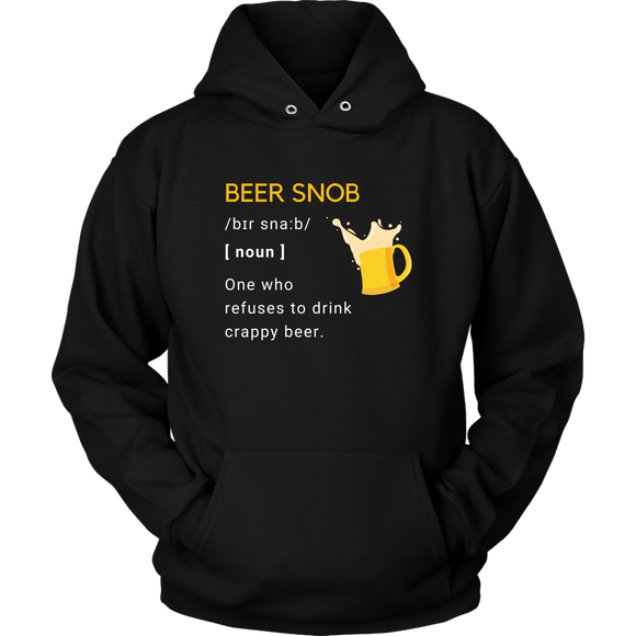 BEER LOVER FUNNY HOODIE, BEER SNOB DEFINITION