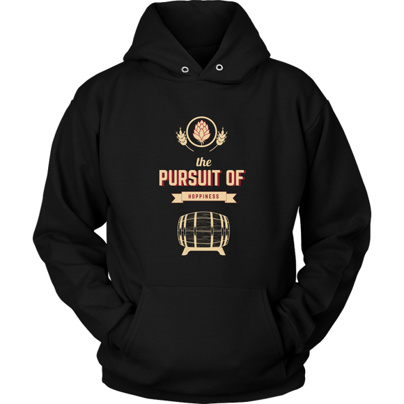 BEER LOVER FUNNY HOODIE, THE PURSUIT OF HOPPINESS