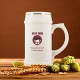 CRAFT BEER LOVER FUNNY BEER STEIN, BEER SNOB, BECAUSE LIFE IS TOO SHORT TO DRINK CRAPPY BEER