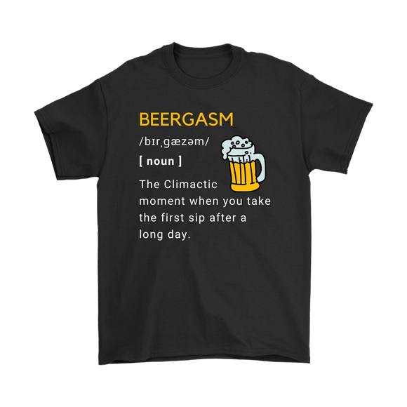 BEER LOVER FUNNY T-SHIRT, BEERGASM DEFINITION