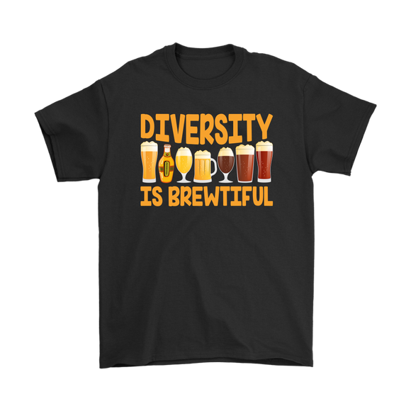 BEER LOVER FUNNY T-SHIRT, DIVERSITY IS BREWTIFUL