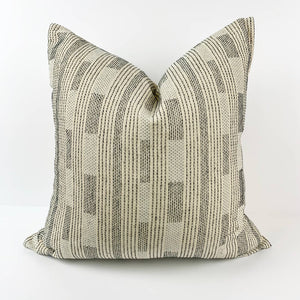 Hand-Stitched Cotton Square Pillow