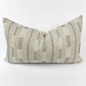Hand-Stitched Cotton Lumbar Pillow