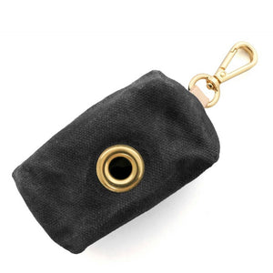 Waxed Canvas Waste Bag Dispenser - Onyx