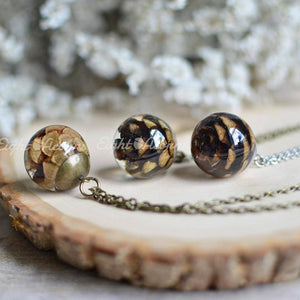 Pine Cone Sphere Necklace