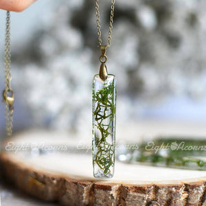 Preserved Moss Necklace