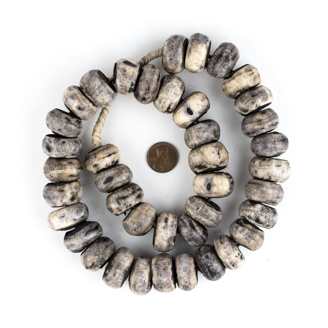 Large Grey Kenya Bone Beads
