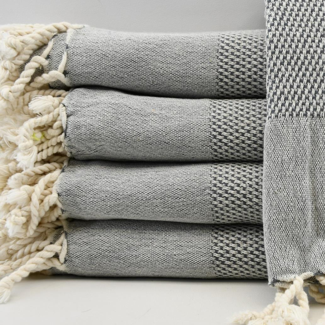 Turkish Hand Towel - Gray