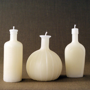 Bitters Faceted Bottle Candle, Cream