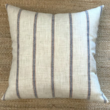 Load image into Gallery viewer, Striper Pillow, Indigo & Clay - 22""