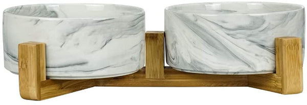 Double ceramic bowl Gray Marble 850 ml