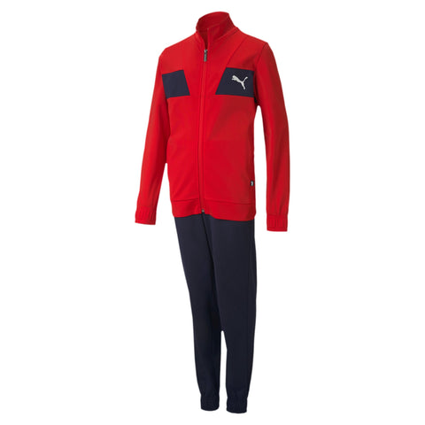 Chándal Junior Poly Suit cl B Rojo/Marino - Soccer Sports Ibérica