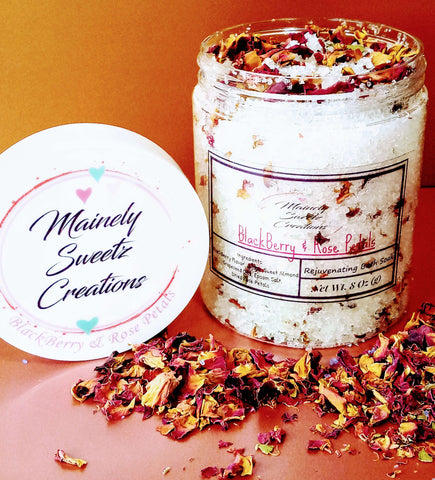 Blackberry & Rose Petals Bath Soak Bath Soaks & Body Essentials MainelySweetz Creations