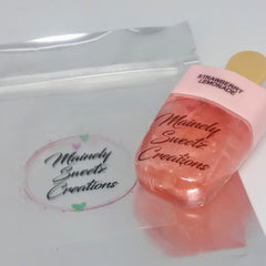 Strawberry Lemonade Lip Shine Lipgloss- Decorative Wand Tube - MainelySweetz Creations