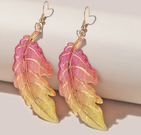 Ombre Candy Leaf Earrings - MainelySweetz Creations