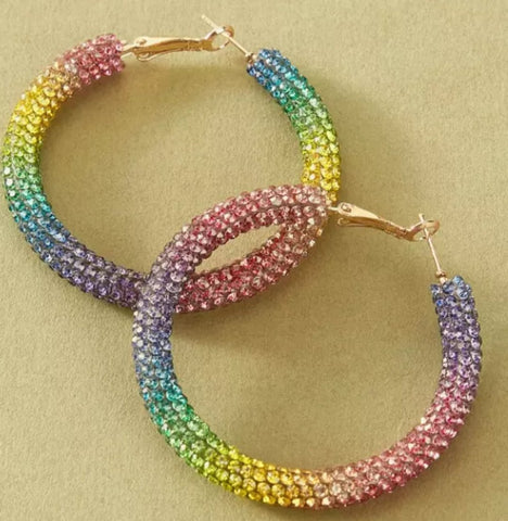 Candy Jelly Hoop Earrings (gold clasp)