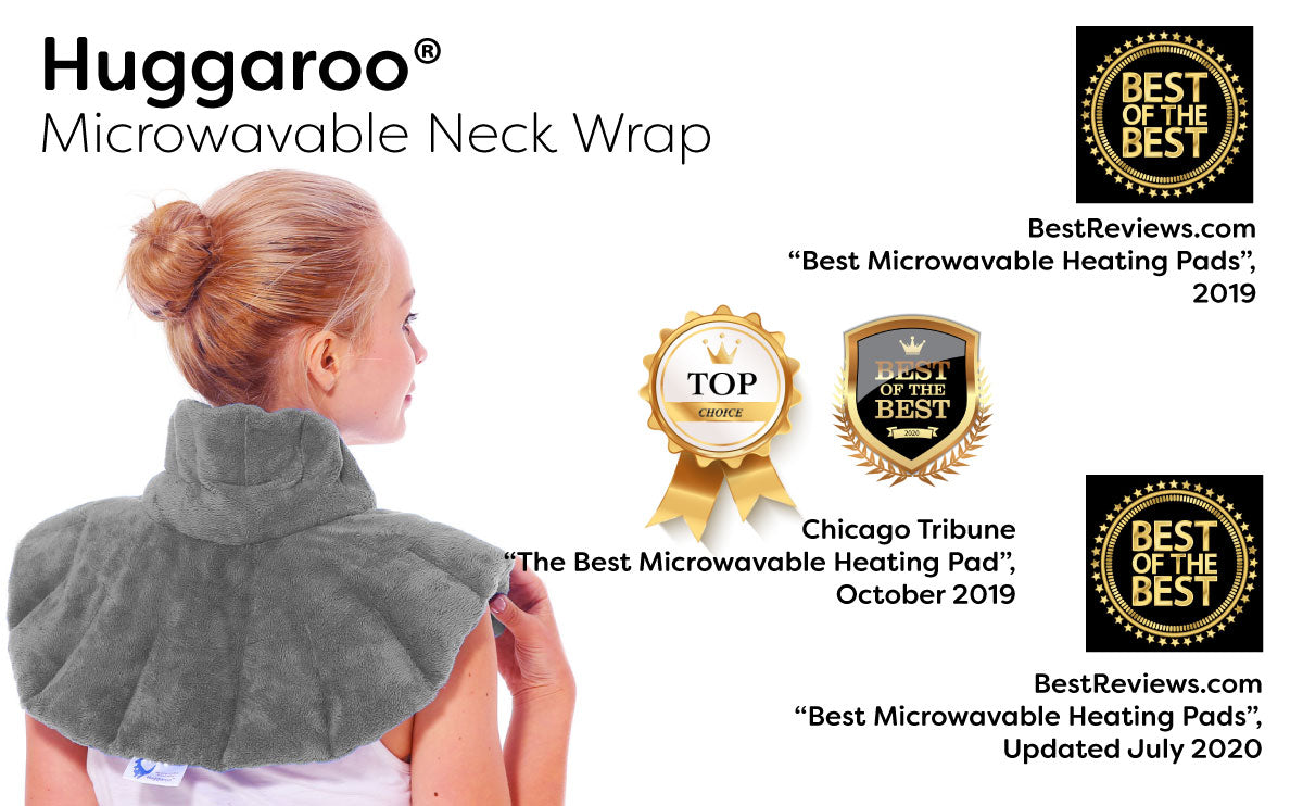 original huggaroo neck wrap microwavable heating pad awards