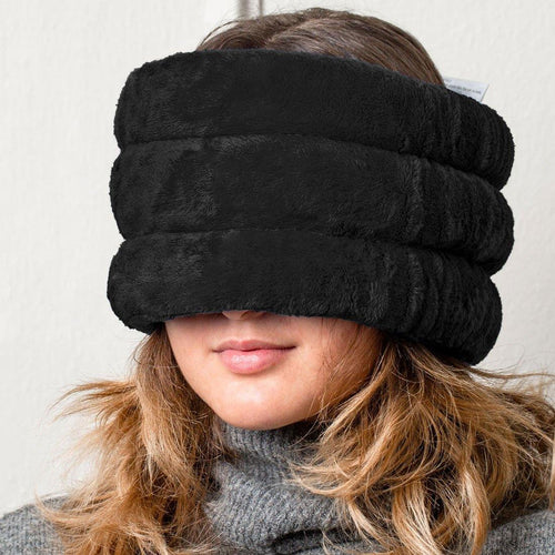 Huggaroo Head and Sinus Wrap Microwavable Heat Pad - Unscented, Black-HHWM1U