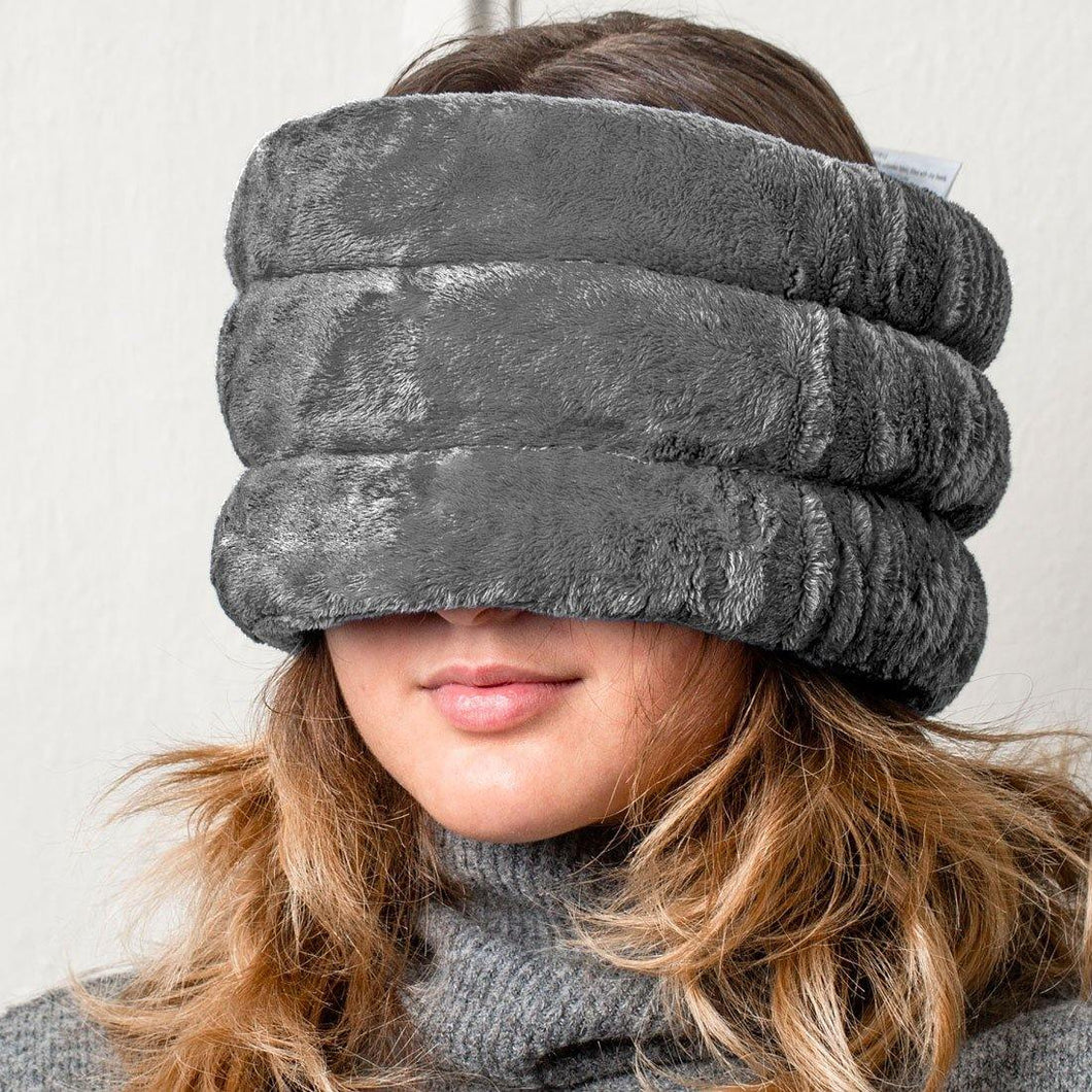 NEW - Huggaroo Head and Sinus Wrap Microwavable Heat Pad - Unscented, Grey