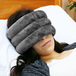 NEW - Huggaroo Head and Sinus Wrap Microwavable Heat Pad - Unscented, Grey-HHWM1UG