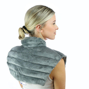 Huggaroo Microwavable Heating Pad - Lavender Neck Wrap, Grey-HNWV2GREY-855448007292