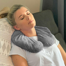 Load image into Gallery viewer, NEW - Huggaroo Washable, Unscented Neck Wrap Microwavable Heating Pad