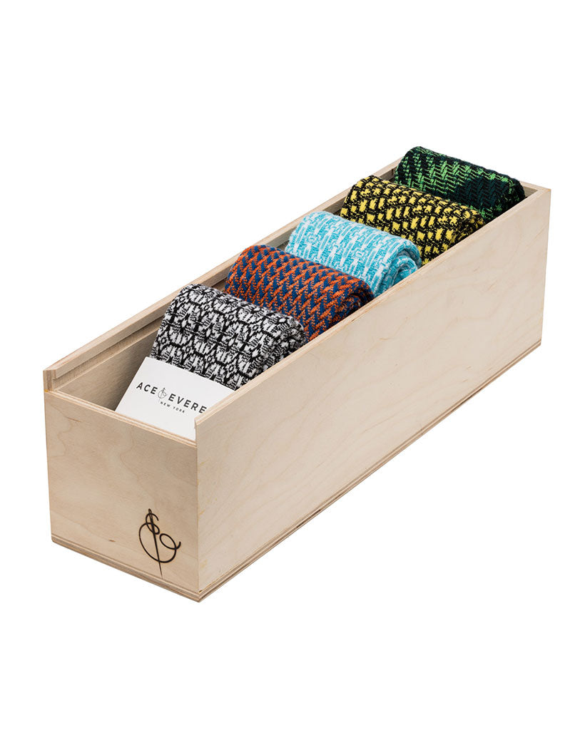 5-Pack Assortment with Custom Wooden Box