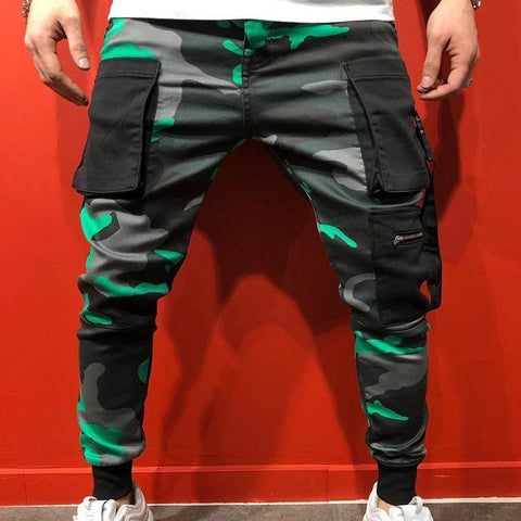 Sports Slim Hip-hop Camouflage Printed Men's Trousers