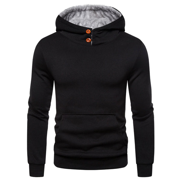 Men's casual hooded pullover sweater