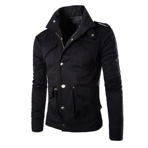 Men's plain fashion pocket work jacket