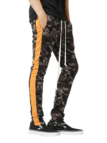 Mens Fashion Camouflage Patchwork Sports Casual Pants