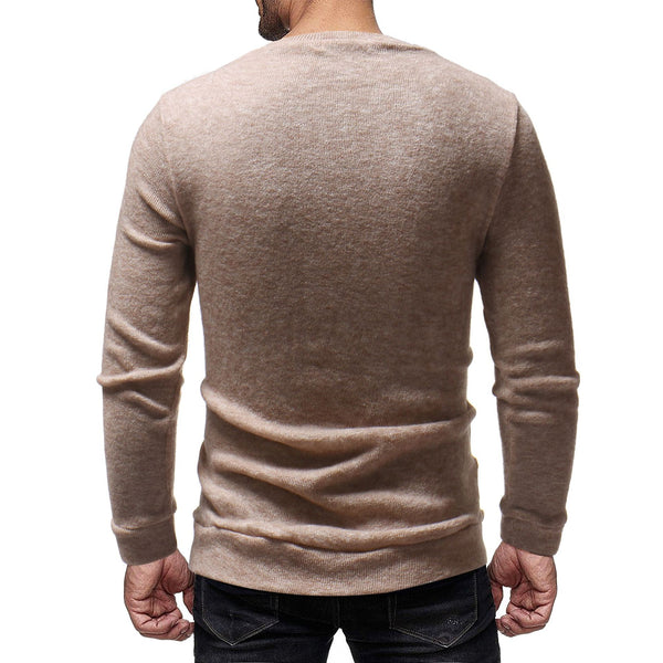 Men's casual long-sleeved embroidery printed sweater