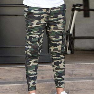 Men's casual loose camouflage sports trousers