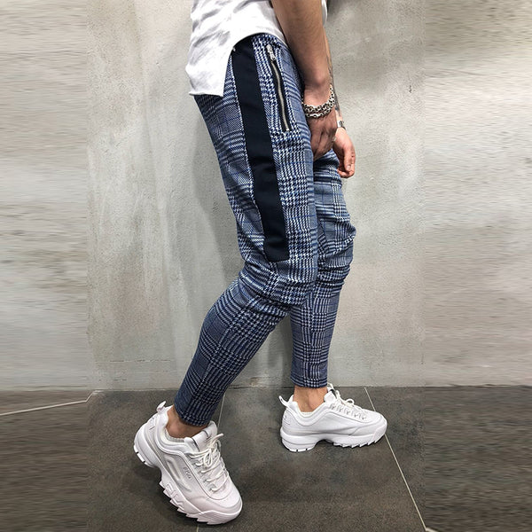 Men's Check Casual Sports Pants