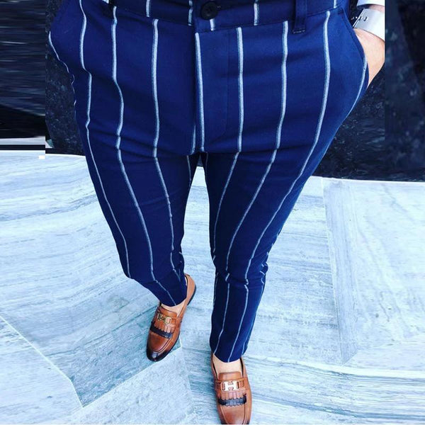 Men's Striped Casual Pants