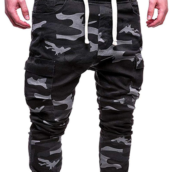 Mens fashion camouflage sports casual trousers