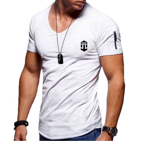 Tapmeo® Casual Sports Print Pullover V-Neck T-Shirt