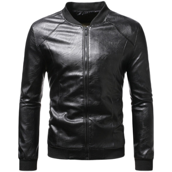 MenS Fashion Casual Stand Collar Jacket