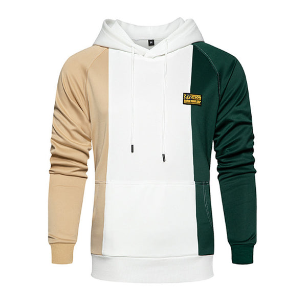 Men's Fashion Color Block Hooded Sweater