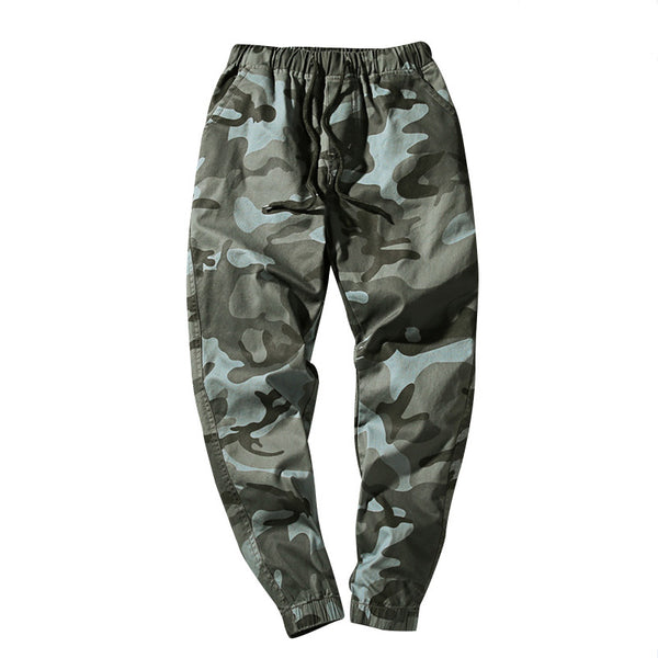 Men's fashion casual camouflage cropped pants